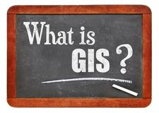 What is GIS? A question on blackboard Royalty Free Stock Photography