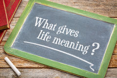 What gives life meaning question Stock Images