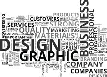 What Is Graphic Design And How Can It Help My Business Word Cloud Stock Image