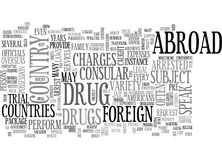 What Happens If You Are Arrested Overseas Word Cloud Royalty Free Stock Photos
