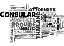 What Happens If You Get Arrested In Thailand Word Cloud Stock Image