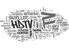 What Is Hdtv Word Cloud Royalty Free Stock Photography