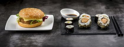 What is healthier - hamburger or sushi
