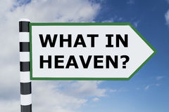 What in Heaven? concept Royalty Free Stock Photo