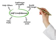 What help to grow self-confidence. Woman presenting how to grow self-confidence Stock Photography