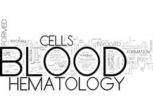 What Is Hematology Word Cloud Royalty Free Stock Images