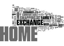 What Is Holiday Home Exchange Word Cloud Stock Photography