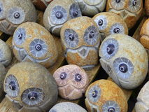 Stone owl ornaments Stock Photo