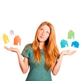 What house to choose ? Stock Photo