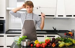 What am I cooking? Royalty Free Stock Images