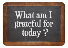 What am I grateful for today? Stock Photography
