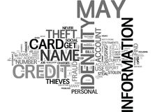 What Is Identity Theft And Can It Happen To You Word Cloud Royalty Free Stock Images