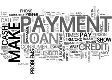 What If I Cannot Make A Loan Payment Word Cloud Royalty Free Stock Photography