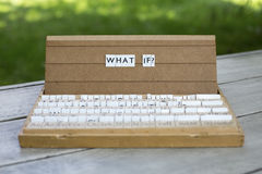 What if? Stock Image