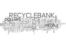 What If You Could Be Paid To Recycle Word Cloud Stock Photos