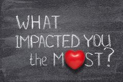 What impacted you heart stock images