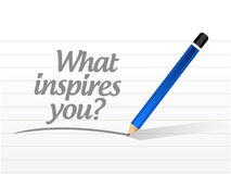 what inspires you message illustration Royalty Free Stock Photo