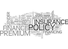 What Is Insurance Premium Finance Word Cloud. WHAT IS INSURANCE PREMIUM FINANCE TEXT WORD CLOUD CONCEPT Royalty Free Stock Photography