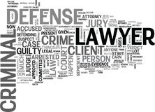 Free What Is A Criminal Defense Lawyer Word Cloud Royalty Free Stock Photography - 96632607