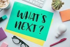 What'is Next And Business Concepts With Colorful Paper Royalty Free Stock Images