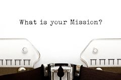 Free What Is Your Mission Typewriter Concept Royalty Free Stock Image - 161262246
