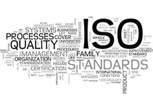 What Is Iso Word Cloud Royalty Free Stock Photography