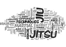 What Is Jiu Jitsu Word Cloud vector illustration
