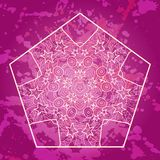 Oriental mandala motif in pink Stock Photography