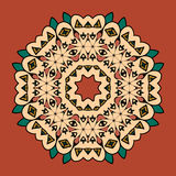 What is karma Oriental mandala motif round lase Stock Photos