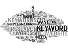 What Keywords Do I Need And How Do I Find Themword Cloud Stock Photography