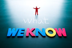 What we know concept Royalty Free Stock Photos