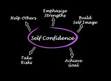 What lead to Self-confidence royalty free stock photo