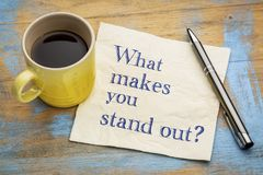 What make you stand out? Royalty Free Stock Photos