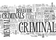 What Makes A Criminal Nature Or Nurture Word Cloud Royalty Free Stock Photo