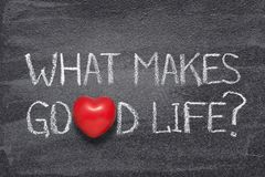 What makes good life heart royalty free stock photos
