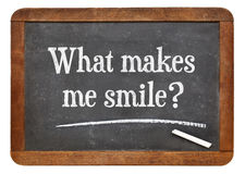 What makes me smile ? Stock Image
