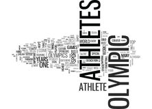 What Makes An Olympic Athlete Word Cloud Stock Photo