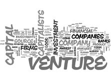 What Makes You Eligible For Venture Capitalword Cloud. WHAT MAKES YOU ELIGIBLE FOR VENTURE CAPITAL TEXT WORD CLOUD CONCEPT Stock Image
