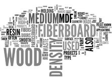 What Is Medium Density Fiberboard And What Is It Good For Word Cloud Royalty Free Stock Photo