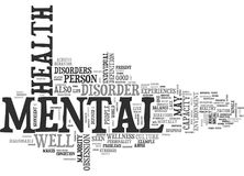 What Is Mental Health Word Cloud Royalty Free Stock Photography