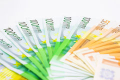 What money can not buy. Money lined like a fan,photography Stock Images