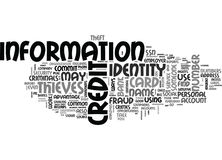 What Are The Most Common Ways To Commit Identity Theft Or Fraud Word Cloud Royalty Free Stock Image