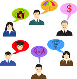 What is most important. Vector teamwork and ideas concept illustration Royalty Free Stock Images