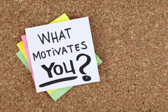 What Motivates You. Your dreams aspirations goals concept stock image