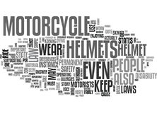 What The Motorcycle Helmet Law States Per Stateword Cloud Stock Photography