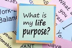 What is my life purpose concept royalty free stock photography