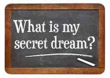 What is my secret dream ? Stock Photo