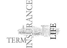 What New Home Owners Need To Know About Term Life Insurance Word Cloud Royalty Free Stock Photos