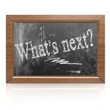 What is next text written on blackboard Royalty Free Stock Photography