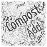 14 What not to Compost word cloud concept  background. Text Royalty Free Stock Image